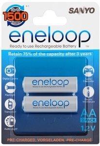 Panasonic eneloop Mignon AA NiMH rechargeable battery 2000mAh, 2-pack (HR-3UTG-2BP)