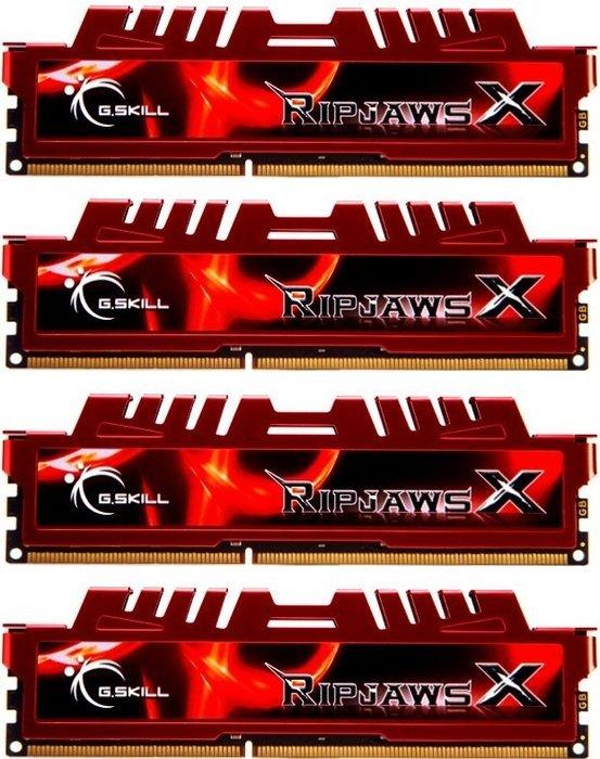 G.Skill RipJawsX rot DIMM Kit 32GB, DDR3-1600, CL10-10-10-30 (F3-12800CL10Q-32GBXL)