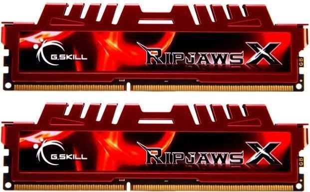 G.Skill RipJawsX red DIMM kit 16GB, DDR3-1600, CL10-10-10-30 (F3-12800CL10D-16GBXL)