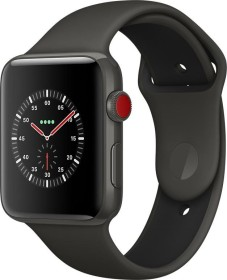 Apple Watch Edition Series 3 (GPS + Cellular) Keramik 42mm grau mit Sportarmband grau/schwarz (MQM62ZD/A)