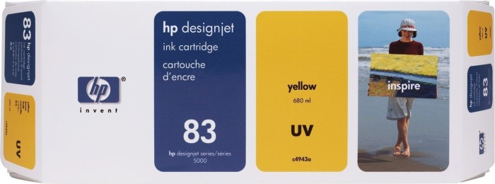 HP 83 ink UV yellow (C4943A)