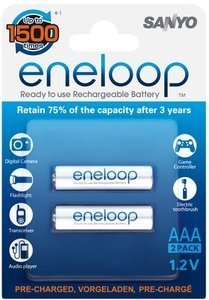 Panasonic eneloop Micro AAA NiMH 800mAh, 2-pack (HR-4UTG-2BP)