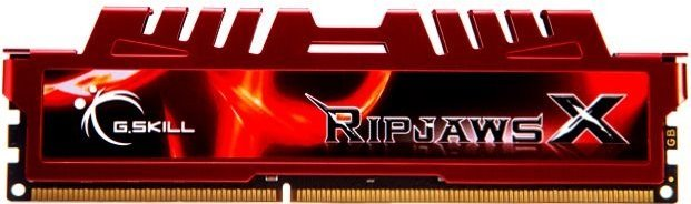 G.Skill RipJawsX rot DIMM 8GB, DDR3-1333, CL9-9-9-24 (F3-10666CL9S-8GBXL)