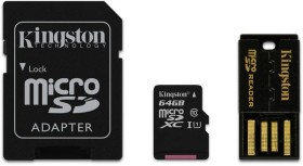 Kingston microSDXC 64GB Mobility-Kit, Class 10 (MBLY10G2/64GB)