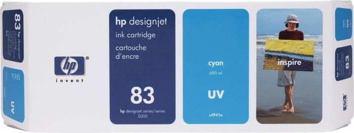 HP 83 Tinte UV cyan (C4941A)