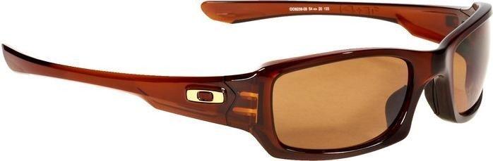 OAKLEY Sonnenbrille: Fives Squared?, polished rootbeer/dark bronze