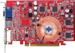 MSI RX600XT-TD128E, Radeon X600 XT, 128MB DDR, DVI, TV-out, PCIe (MS-8961-010)