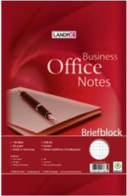 Landré Briefblock Office A4 kariert, 100 Blatt (100050250)