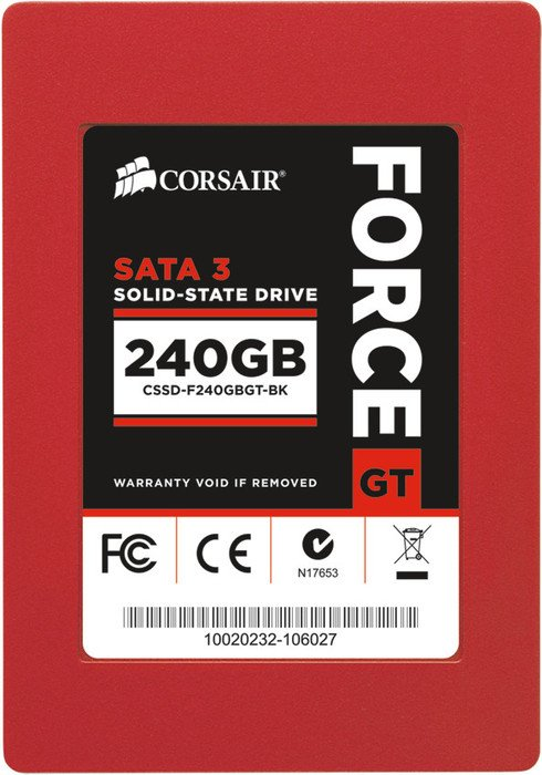 "Corsair Force Series GT 240GB, 2.5"", SATA 6Gb/s (CSSD-F240GBGT-BK)"