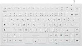 Renkforce iM-IKB720BL-WH Industrielle USB-Keyboard with trackball white, IP68, TKL, USB, DE (RF-4793868)