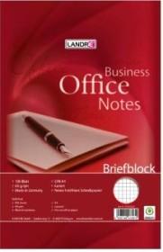 Landré Briefblock Office A4 kariert, 4-fach gelocht, 100 Blatt (100050253)