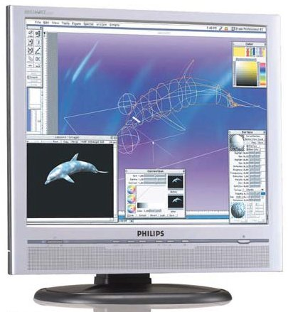 "Philips 190P5ES silber, 19"", 1280x1024, analog/digital, Audio"