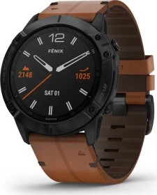 Garmin Fenix 6X Saphir black dlc/chestnut leather (010-02157-14)