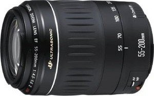 Canon EF 55-200mm 4.5-5.6 USM black