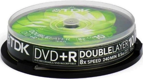 TDK DVD+R 8.5GB DL 8x, 10-pack Spindle (T19924)