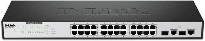 D-Link DES-10 Rackmount Switch, 24x RJ-45, 2x RJ-45/SFP (DES-1026G)