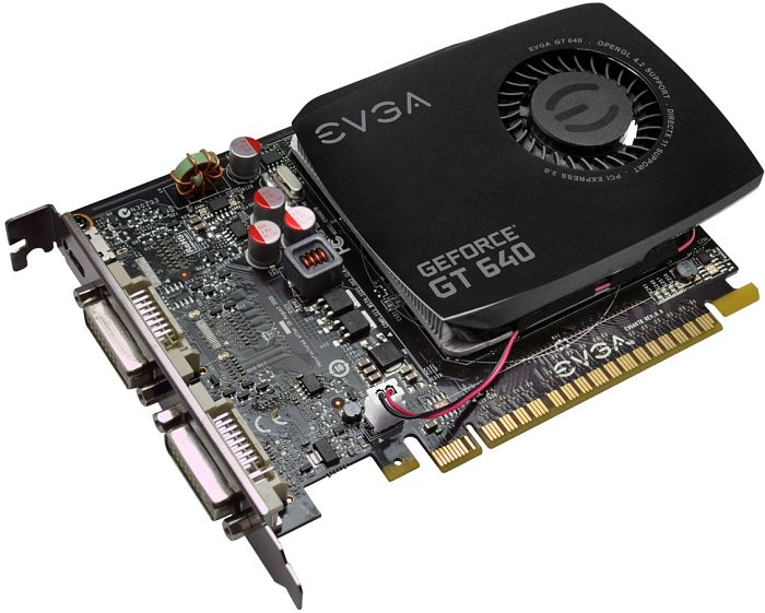 EVGA GeForce GT 640 single-slot, 2GB DDR3, 2x DVI, mini HDMI (02G-P4-2641)