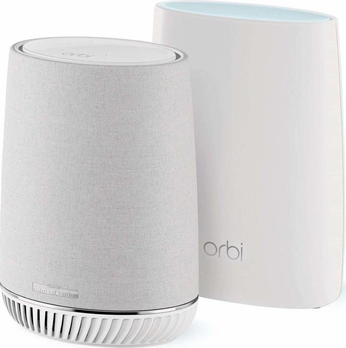 Netgear Orbi Voice RBK50V Router and satellite/loudspeaker set (RBK50V-100EUS/RBK50V-100NAS)