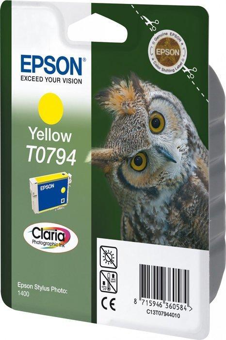 Epson T0794 tusz żółty (C13T07944010)