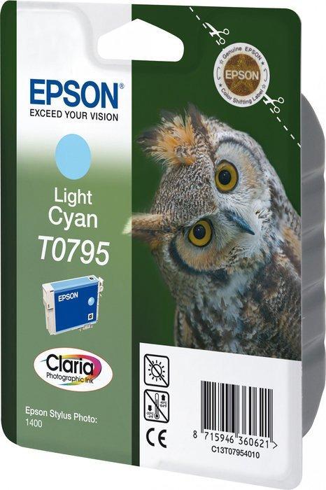 Epson T0795 tusz błękitny jasny (C13T07954010)