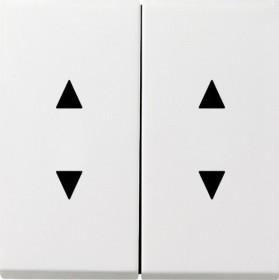 Gira Wippe mit Pfeilsymbolen, reinweiß glänzend (1150 112)