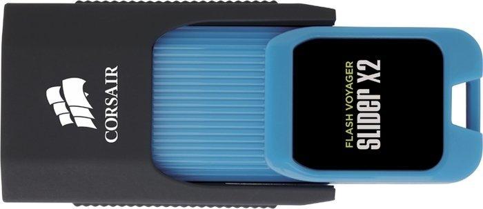 Corsair Flash Voyager Slider X2 Version A 128GB, USB-A 3.0 (CMFSL3X2A-128GB)