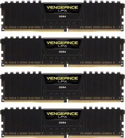 Corsair Vengeance LPX black DIMM kit 64GB, DDR4-3000, CL15-17-17-35 (CMK64GX4M4C3000C15)