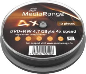MediaRange DVD+RW 4.7GB 4x, 10er Spindel (MR451)