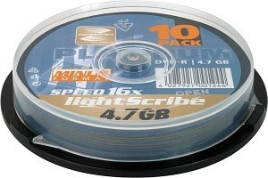 BestMedia Platinum DVD-R 4.7GB 16x LightScribe, 10-pack Spindle (100314)