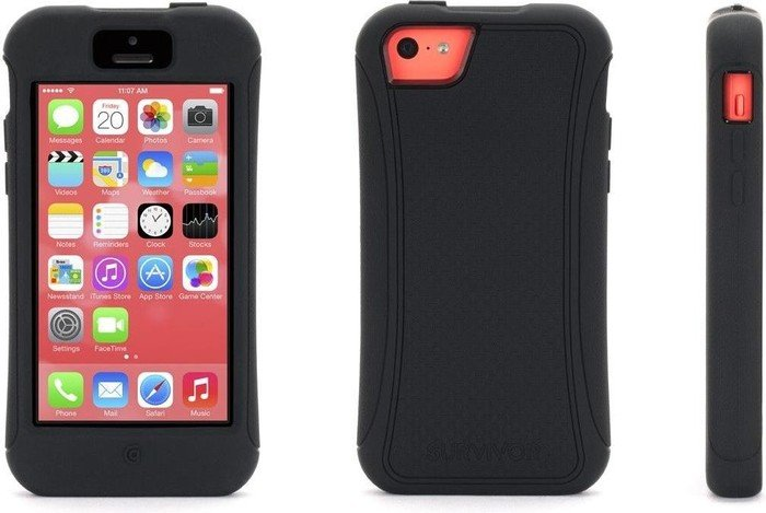 Griffin Survivor Slim für Apple iPhone 5c schwarz (GB38162)