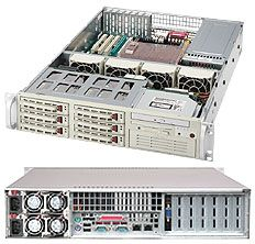 Supermicro 823TQ-R500LP light grey, 2U, 500W redundant
