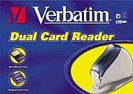 Verbatim Dual czytnik kart pamięci (CF & SM), USB (47109)