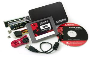 "Kingston SSDNow V+ 100 Bundle  96GB, 2.5"", SATA 3Gb/s (SVP100S2B/96G)"