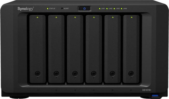 Synology DiskStation DS1618+ 2TB, 8GB RAM, 4x Gb LAN