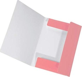 Falken Dreiflügelmappe PastellColor A4, Flamingo-Pink (150688020000)