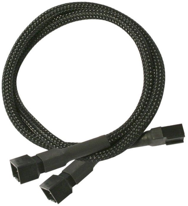 Nanoxia 3-Pin Fan Y cable 30cm, sleeved black
