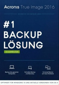 Acronis True Image 2016, 3 User (deutsch) (PC/MAC) (TI3WB2DES)