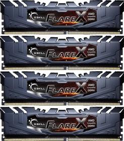 G.Skill Flare X schwarz DIMM Kit 32GB, DDR4-3200, CL14-14-14-34 (F4-3200C14Q-32GFX)