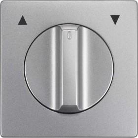 Siemens DELTA style Abdeckungsplatte mit Symbol auf/ab, platinmetallic (5TG1360-1)