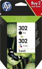 HP Druckkopf mit Tinte 302 schwarz/dreifarbig (X4D37AE)