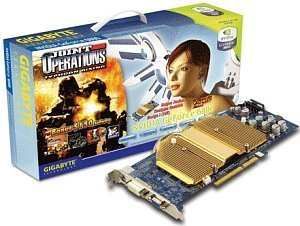 Gigabyte GeForce 6800, 128MB DDR, DVI, TV-out, AGP (GV-N68128DH)
