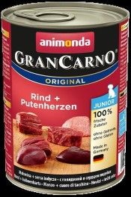 animonda GranCarno Junior Rind und Putenherzen 400g