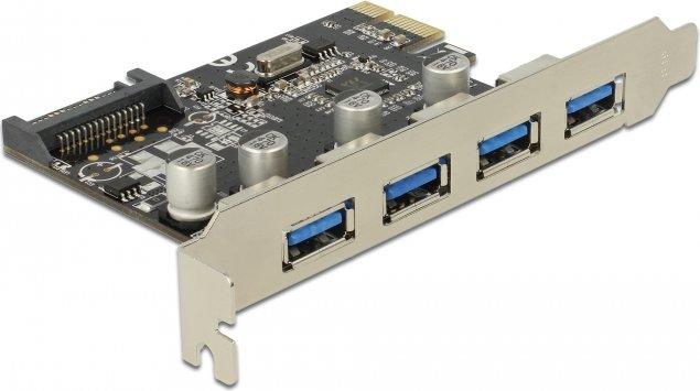 DeLOCK 4x USB 3.0, PCIe x1 (89297)