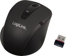 LogiLink Wireless Optical Mouse schwarz, USB (ID0033)