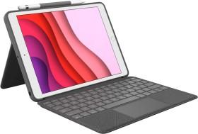"""Logitech Combo Touch, KeyboardDock für Apple iPad 10.2"""" grau, DE (920-009624)"""