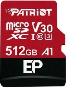 Patriot EP R90/W80 microSDXC 512GB Kit, UHS-I U3, A1, Class 10 (PEF512GEP31MCX)