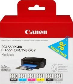 Canon Tinte PGI-550PGBK/CLI-551 Multipack schwarz/dreifarbig mit grau (6496B005)