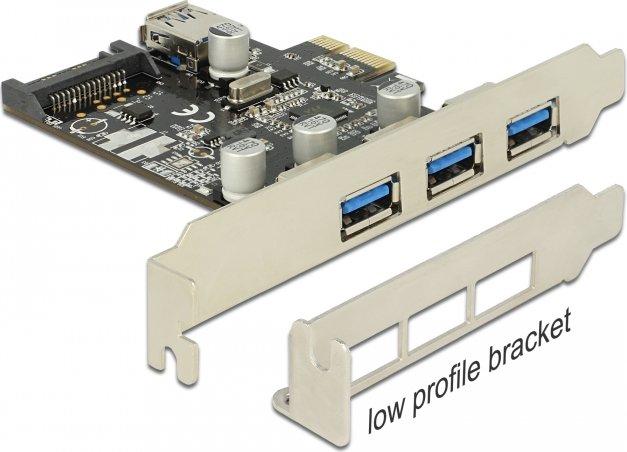 DeLOCK 4x USB 3.0, PCIe x1 (89301)