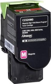 Lexmark Return Toner C232HM0 magenta hohe Kapazität (C232HM0)