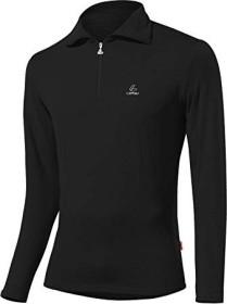 Löffler Transtex Zip-Rolli Basic CF Shirt langarm schwarz (Herren)